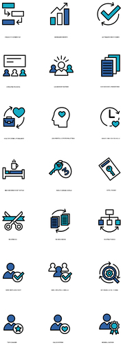 Icon design for hotel consulting services