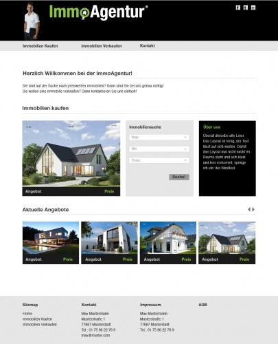 Homepage für Immobilienmakler