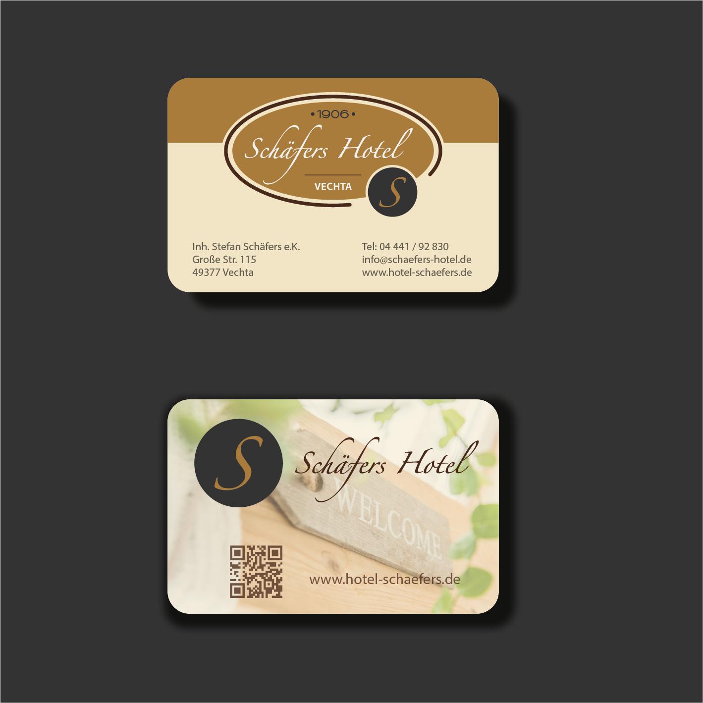 Visitenkarten Design Für Schäfers Hotel Business Card
