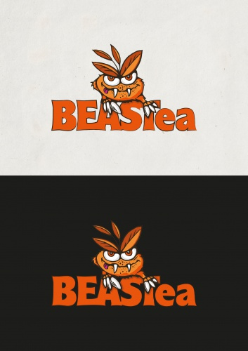 Freches Logo-Design für Tee-Online-Shop