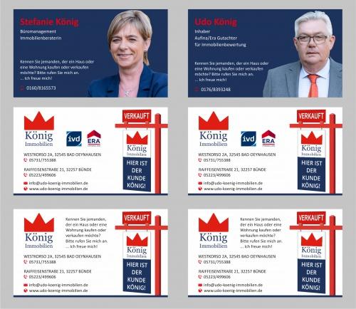 Visitenkarten-Design für Immobilienunternehmen