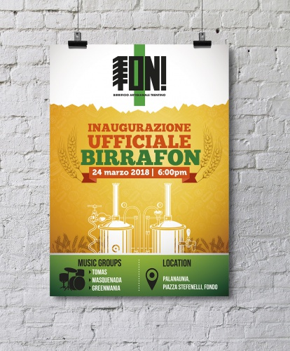 poster design for a craft brewery in Italy