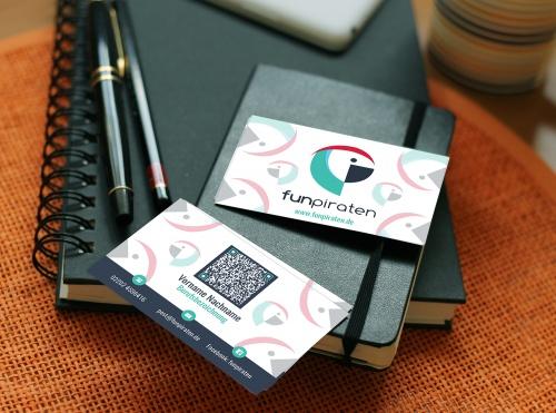Visitenkarten-Design für junges Internetportal