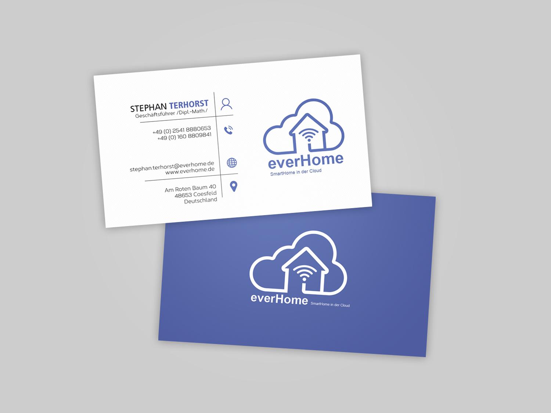 Visitenkarten Design Firmen Logo Vorhanden Web