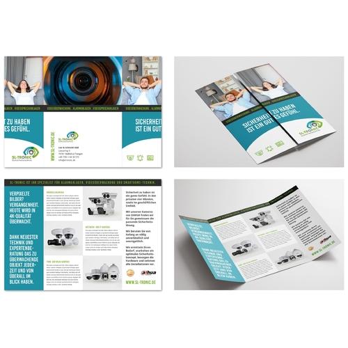 Flyer-Design für Überwachungskameras