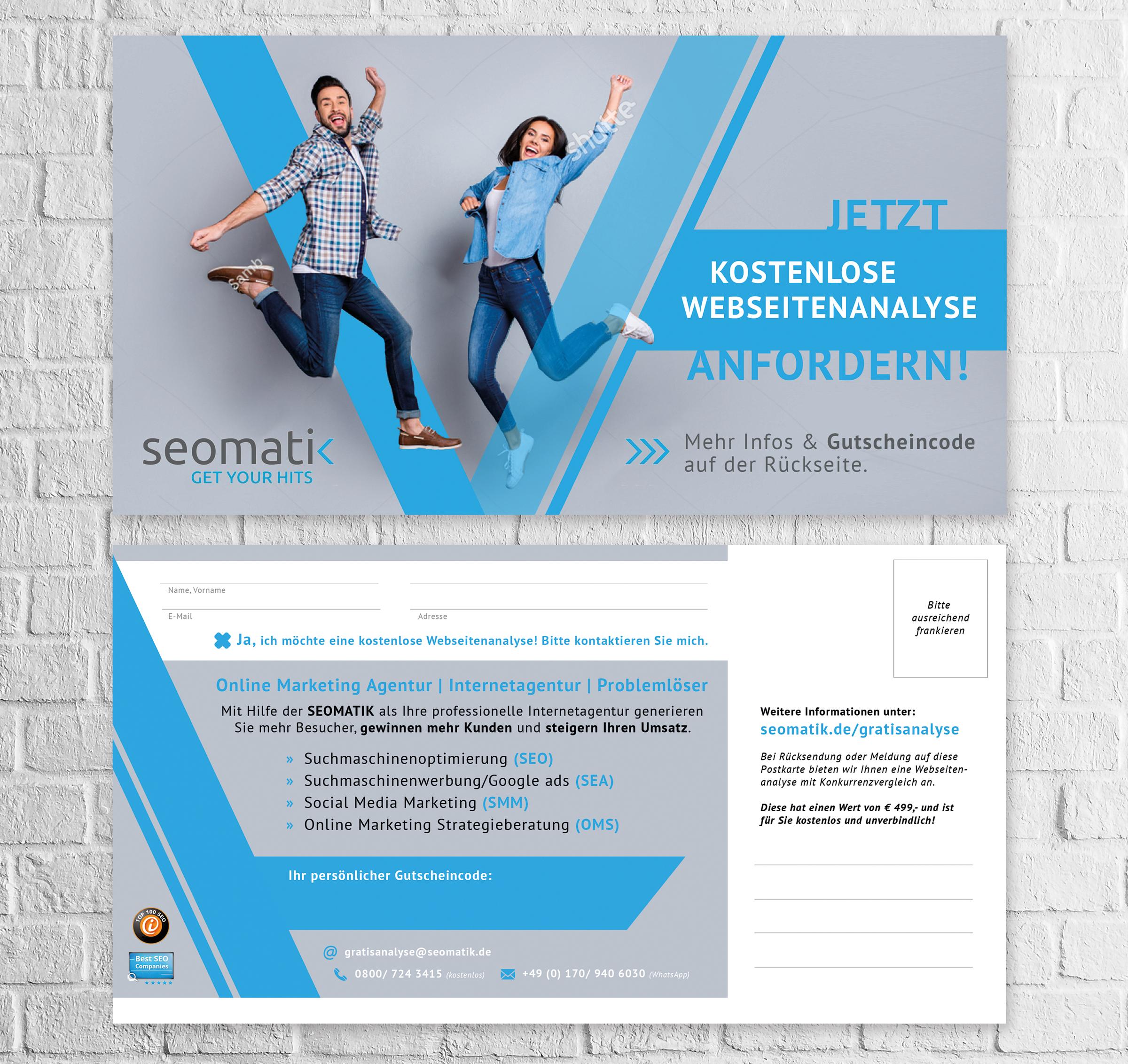 Flyer-Design für Online Marketing Agentur