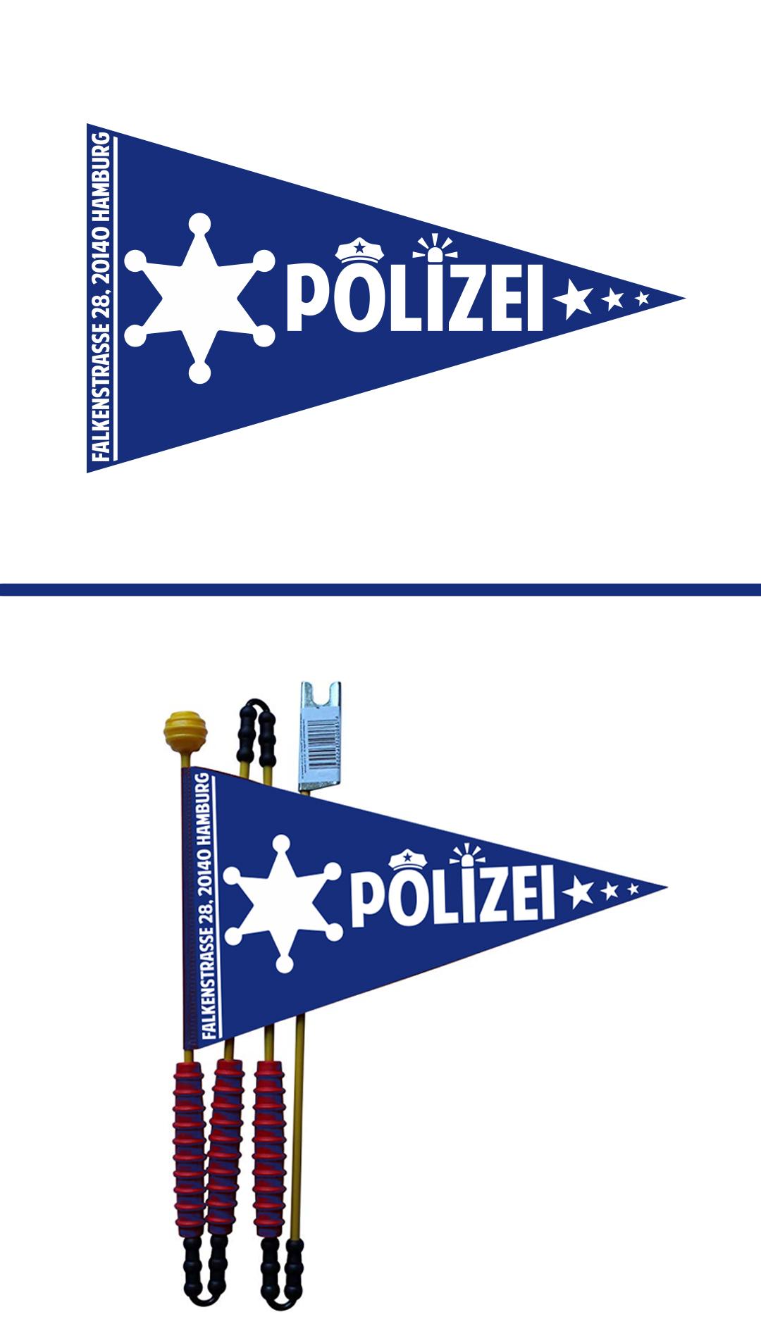 Erstellung eines Polizeiwimpels für Kinder