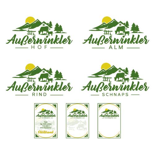 Logo-Design für einen Bergbauern-Betrieb