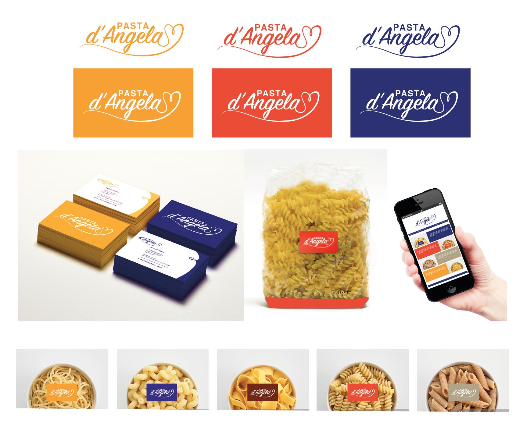 Logo Und Visitenkarten Für Pasta Bzw Produktion Logo