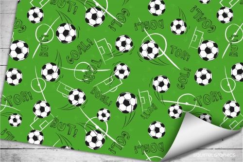 Geschenkpapier Fußball