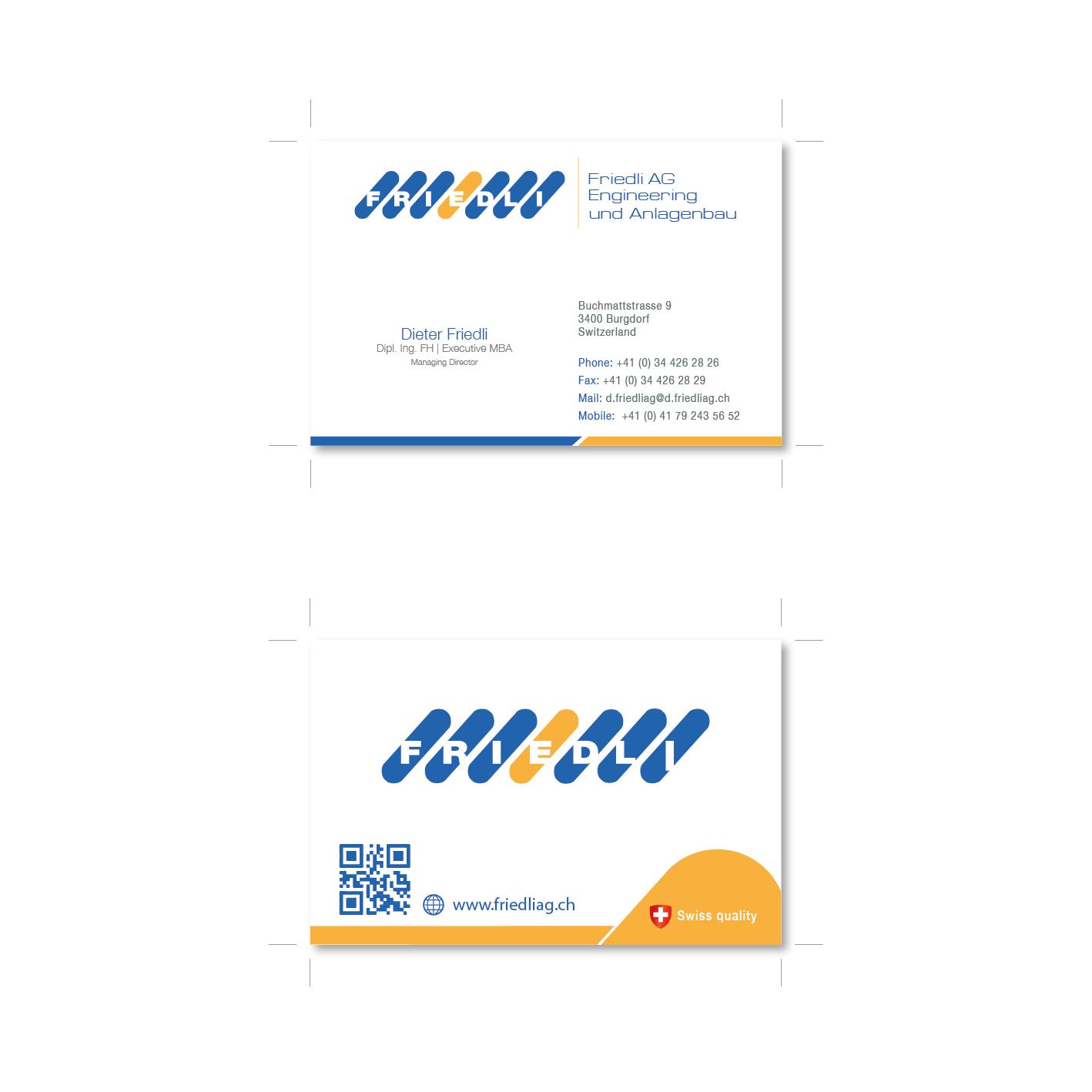 Visitenkarten Design Für Engineering Unternehmen Business