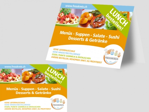 Gestaltung Flyer & Infokärtchen für Fresskreis