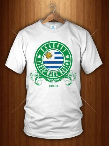 T-shirt Design: Uruguay Cannabis Legaliesierung