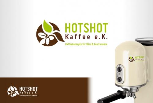 Logo FR Neugrndung. De verkoop van koffie concepten noemen Hotshot Coffee