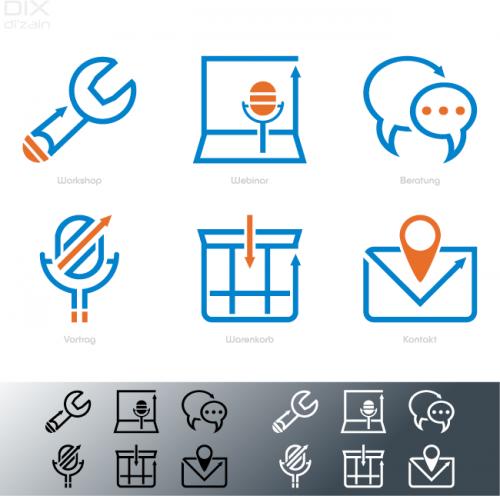 Icon-Design für Kanzleiberaterinnen