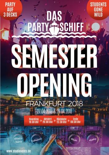 Plakat-Design für Semester Opening 2018 Frankfurt - Partyschiff