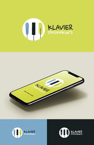 Logo-Design für Klavier-Online-Kurs