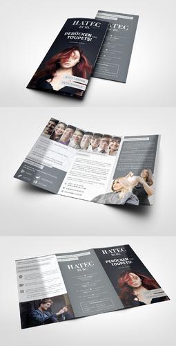 Flyer-Design für Zweithaar Studio