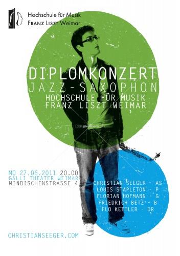 Plakkaat-ontwerp diplomaconcert