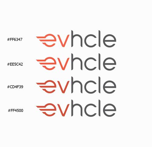 Logo-Design für evhcle - Vermietung von E-Scootern, E-Bikes und E-Autos