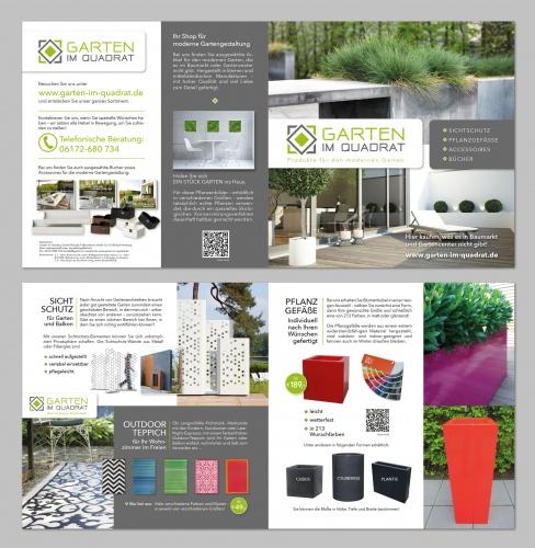 Flyer für Online-Shop mit modernen Gartenprodukt.. » Flyer ...