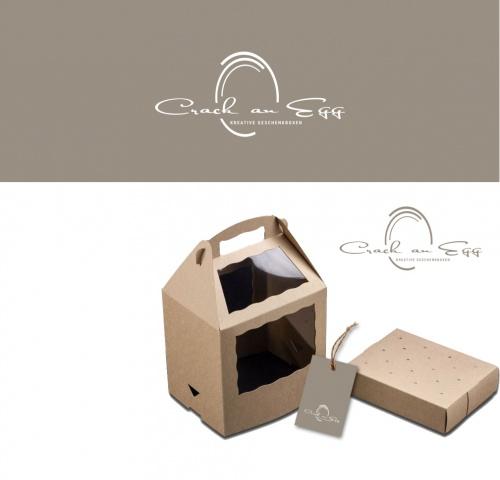 Kreativen Geschenkboxen fehlt noch das passende Logo