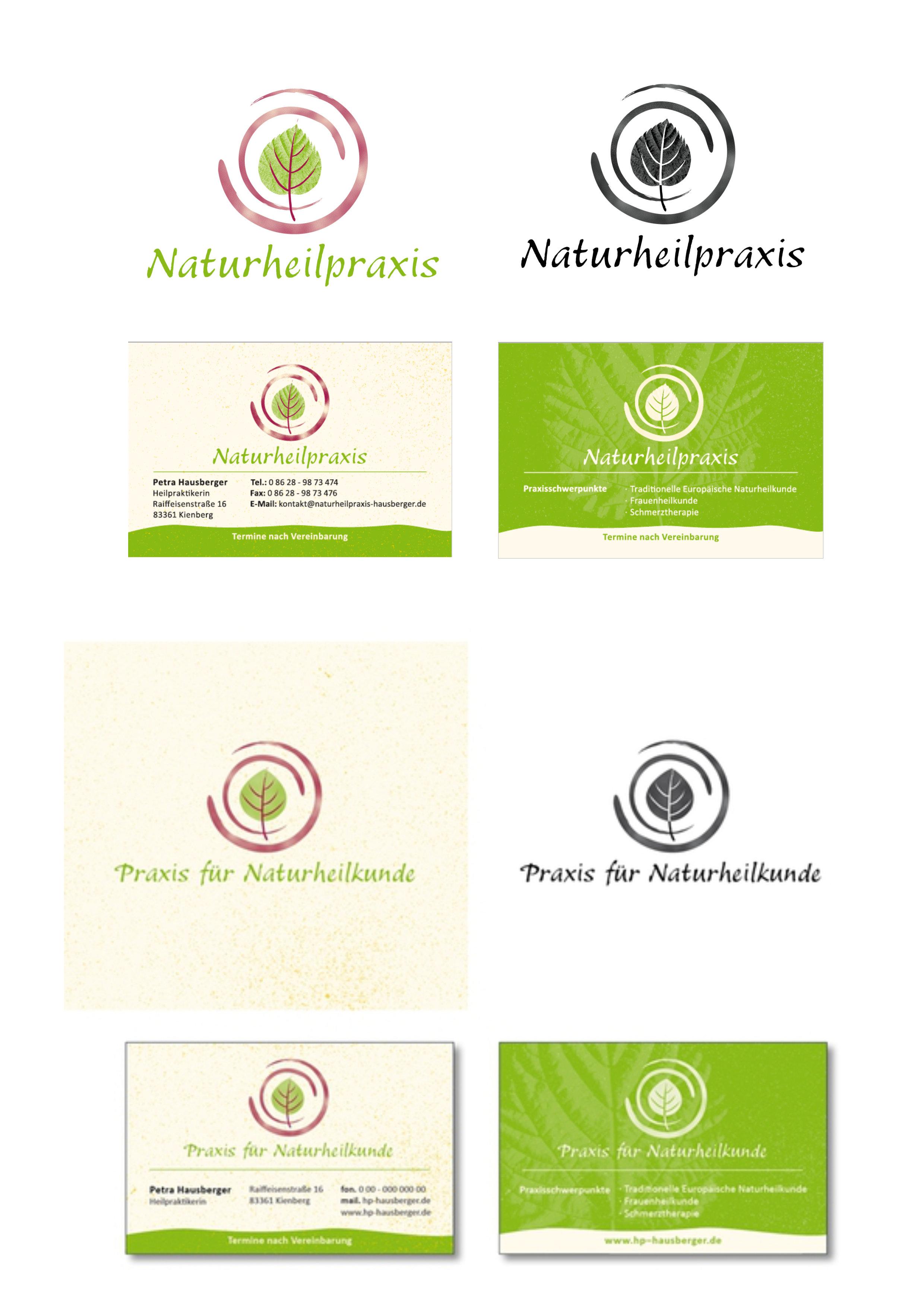 Heilpraktikerin, Naturheilpraxis sucht Logo und Visitenkartendesign