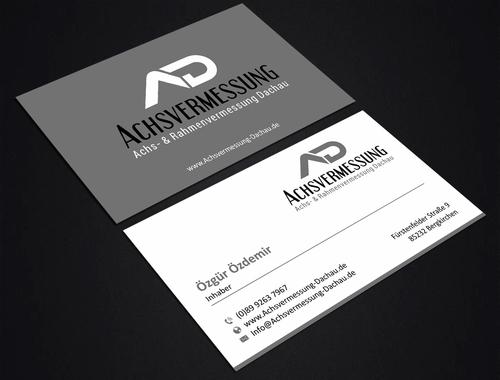 Visitenkarten Design Für Pkw Vermessungen Visitenkarten