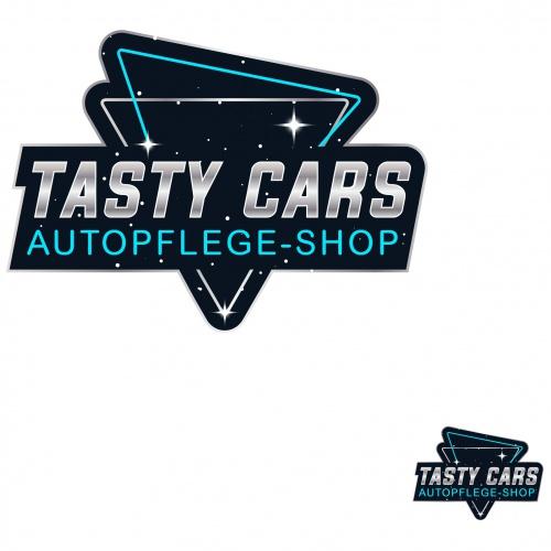 80er Jahre neon Stil Logo für Autopflegeprodukte