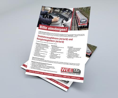 Gestaltung einer Anzeige für eine Stelle als Triebfahrzeugführer
