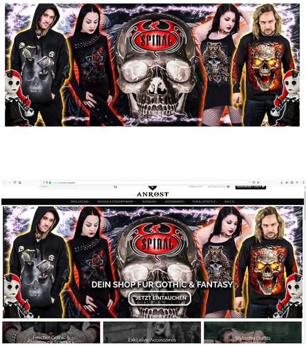 Webbanner-Design für Onlineshop für Gothic, Fantasy & alternative Fashion