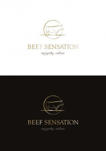 Logo-Design für die Vermarktung von hochwertigem Rindfleich
