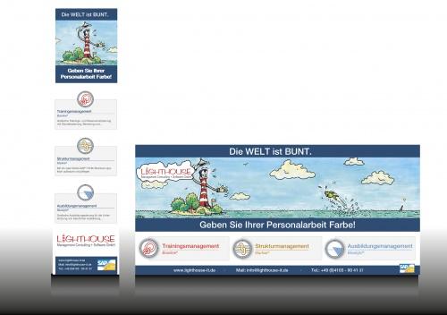 Werbeanzeige für Softwarehersteller