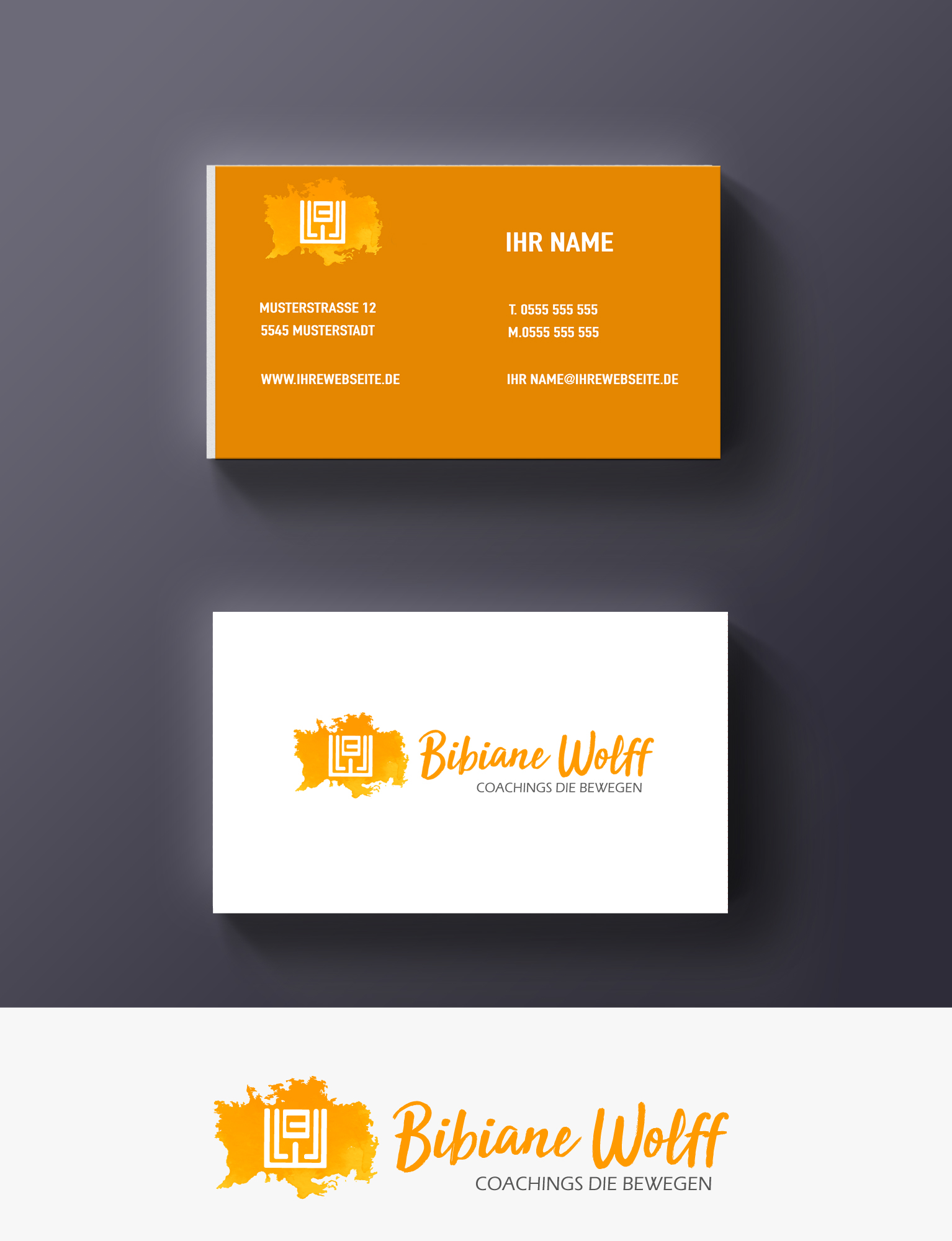 Logo Visitenkarte Für Coaching Logo Business Card