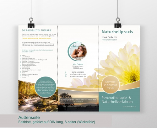 Flyer-Design für Heilpraktikerin