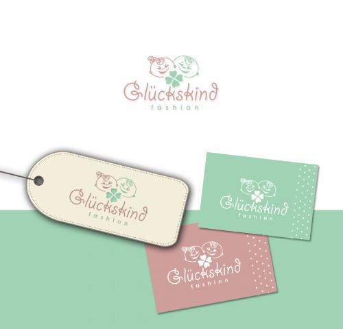 Logo-Design für Online-Boutique Glückskind-Fashion