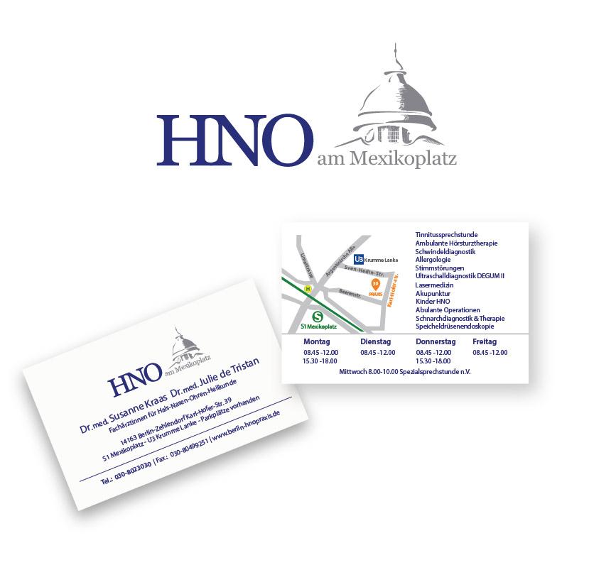 Logo Visitenkarte Für Hno Praxis Am Mexiko Logo