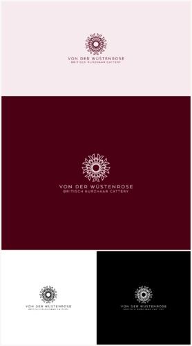 Elegantes Logo-Design für Rassekatzenzucht