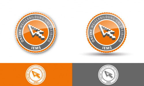 Weiterbildungsprogramm sucht 'Online'-Emblem/Siegel/Stempel