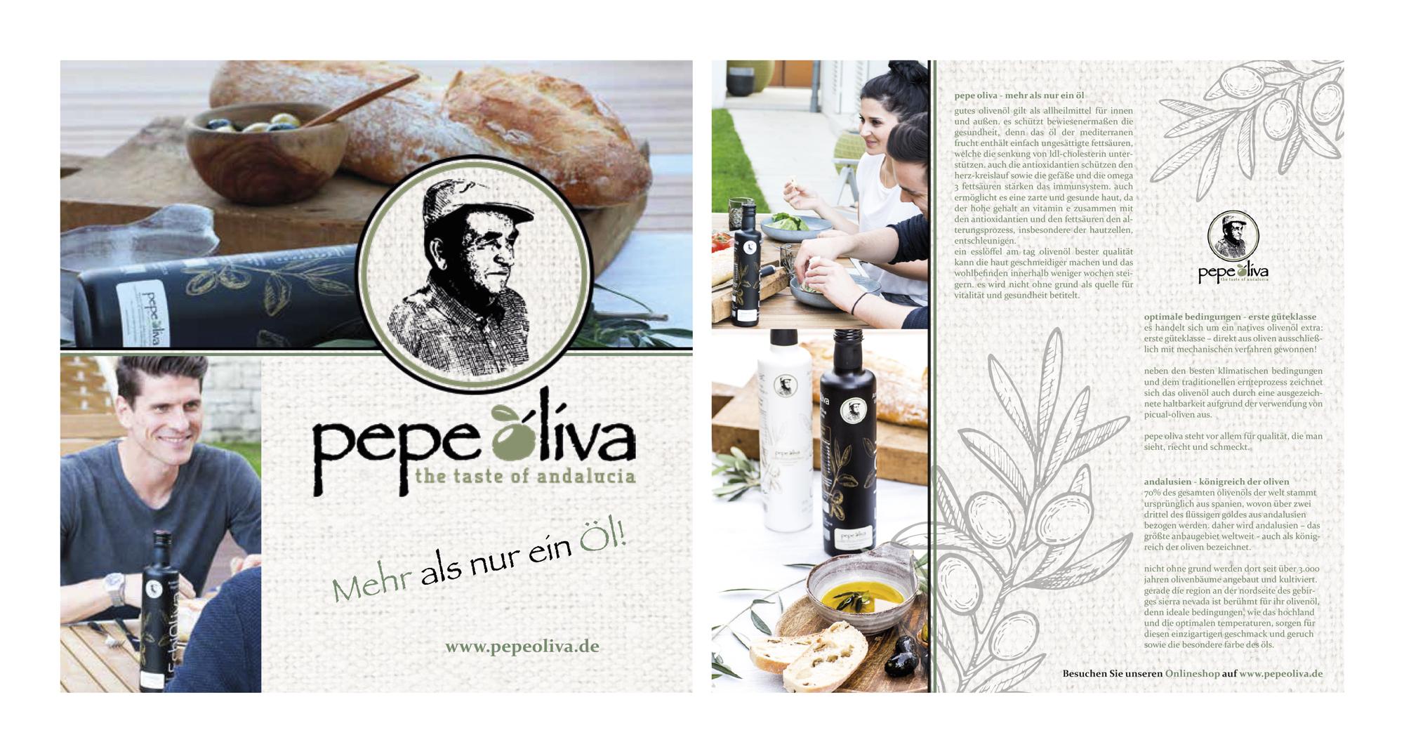 Flyer-Design für Händler von Premium-Olivenöl