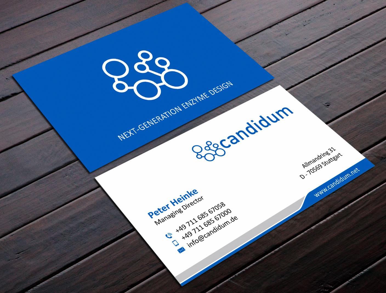 Visitenkarten Design Für Ein Biotechnologieunter