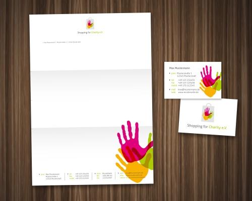 Logo und Visitenkarte für Kinderhilfs-Charity Verein