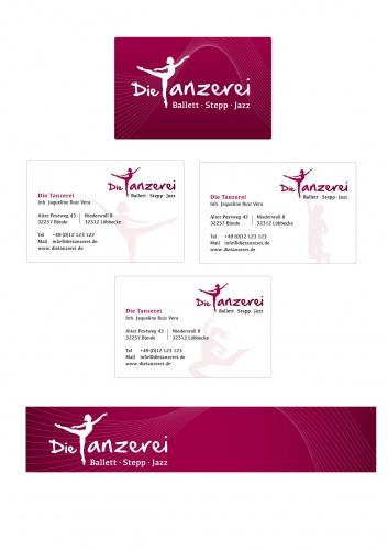 Corporate Design für Die Tanzerei - Ballett Jazz Stepp mit Pepp