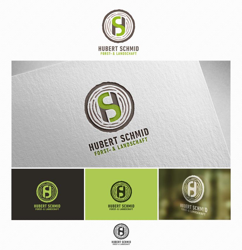 Logo Visitenkarte Für Forst Und Landschaf Logo