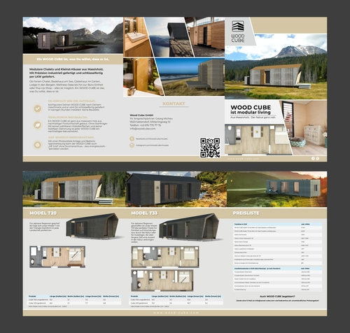 Unternehmen für Produktion von hochwertigen Tiny Houses sucht Broschüren-Design