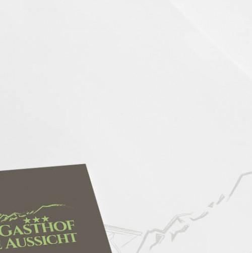Logo & Visitenkarte für Gasthof in einem Wintersportgebiet