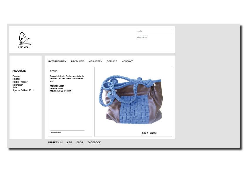 Neue Design Die Website Lis Für Handtaschenmarke qUzpSMV