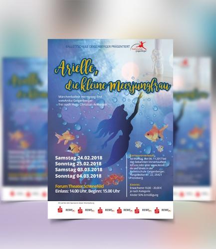 Plakat-Design für große Kinderballett Theateraufführung