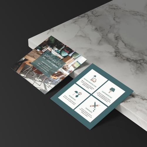 Flyer-Design für Wohn -und Einrichtungsberaterin