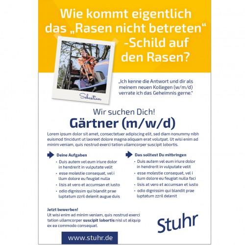 Plakat-Design für Personalmarketingkampagnen einer Gemeinde